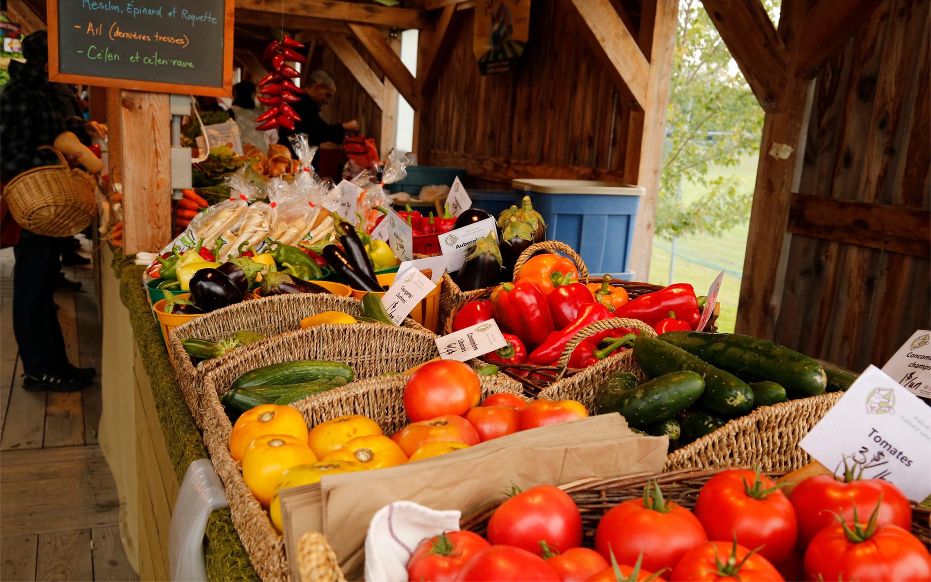 Marché légumes Val St-François